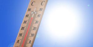 温度計、太陽の光